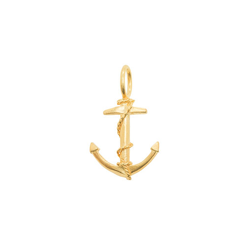Sample Sale Yellow Gold Plated Anchor Pendant