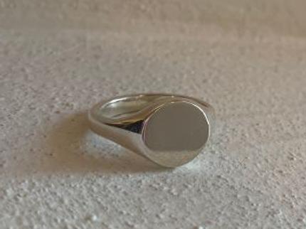 Silver Signet Ring Plain - Size H 1/2