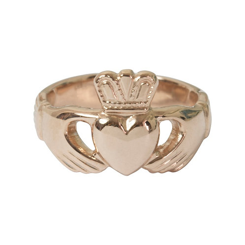 Rose Gold Plated Claddagh Ring - Adjustable