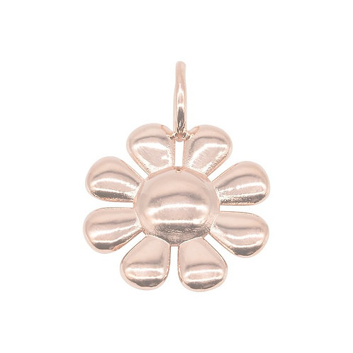 Large Daisy Charm Rose Gold Plated
