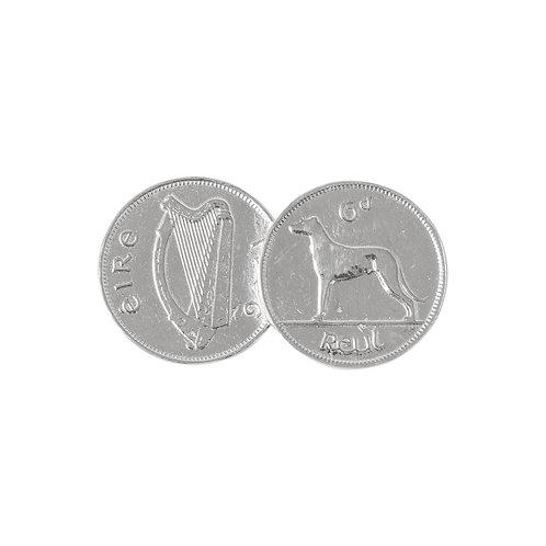 Double Irish 6d Coin Pendant