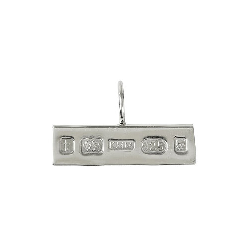 KMM Hallmarked Silver Oblong