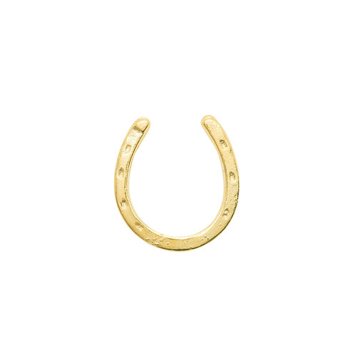 Sample Sale Yellow Gold Plated  Small Horseshoe