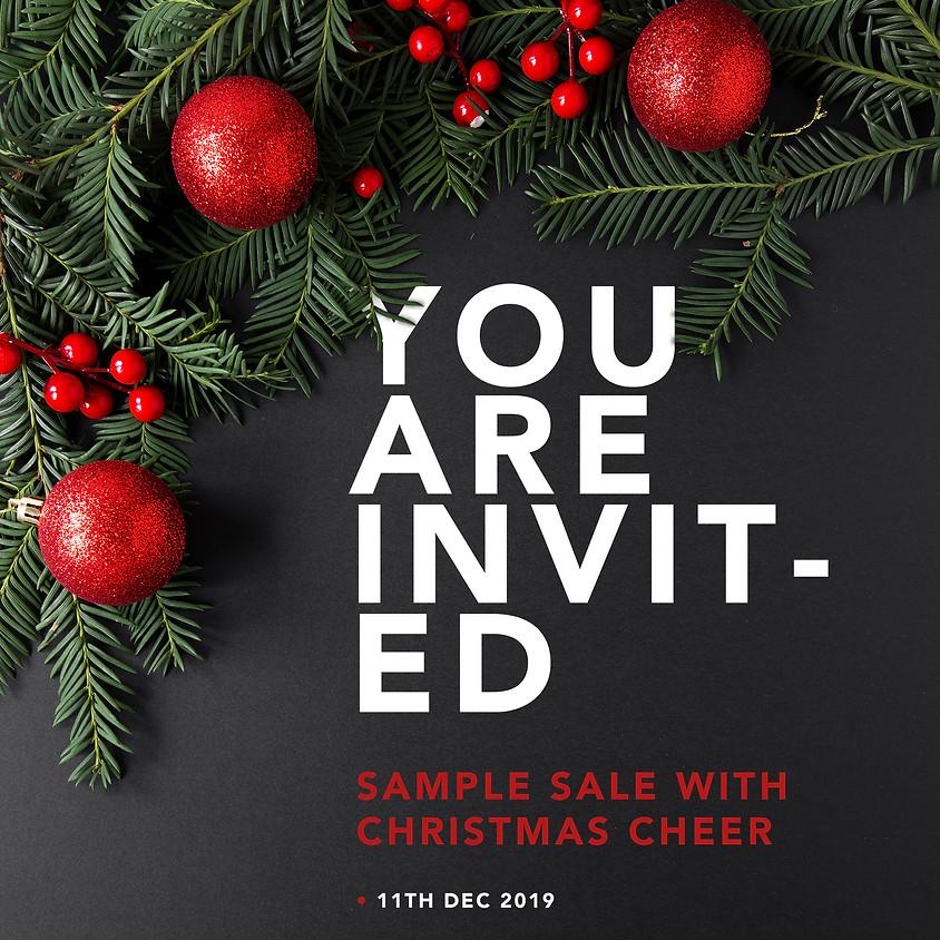 SAMPLE SALE WITH CHRISTMAS CHEER