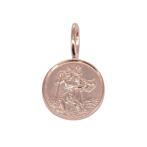 St Christopher Rose Gold Plated