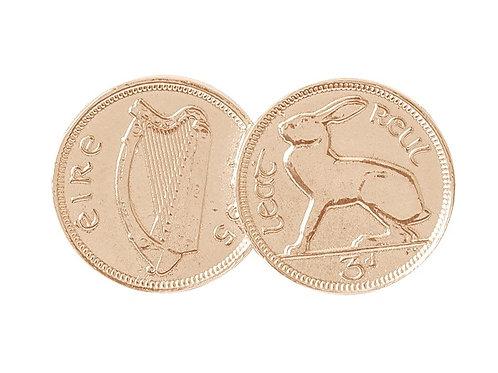 Double Irish 3d Coin Pendant - Rose Gold