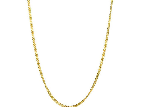 Gold plated yellow 18 inch chain