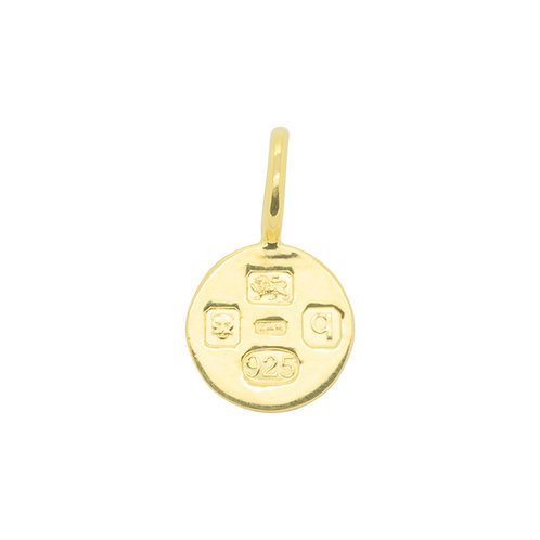 Hallmarking Circle Small Yellow Gold Plated