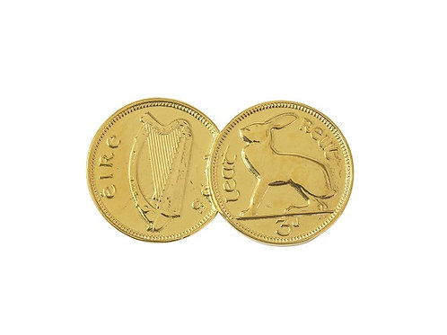Gold 9 Carat Double Irish 3d Coin Pendant
