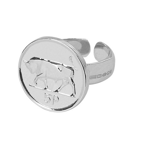 Silver 5p ring - Adjustable