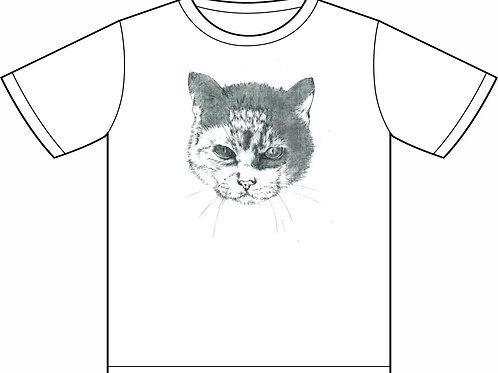 猫髑髏反転ビックTシャツ (丸岡和吾)
