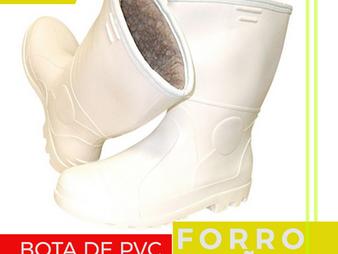 BOTA PVC COM FORRO DE LÃ