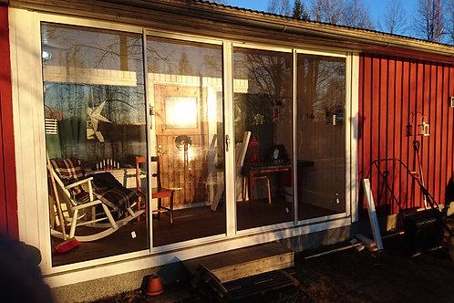 Skjutparti 4 dörrars ,öppnas från mitten