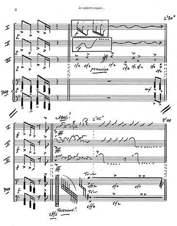 Score page for Felice's La Cadavre