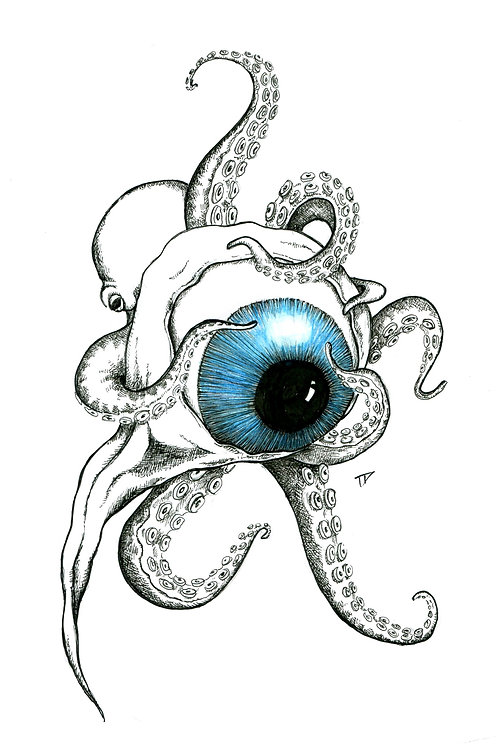 Octo with Eye Toy Print