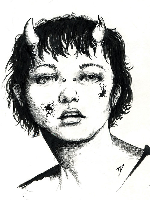 Devil Girl Print