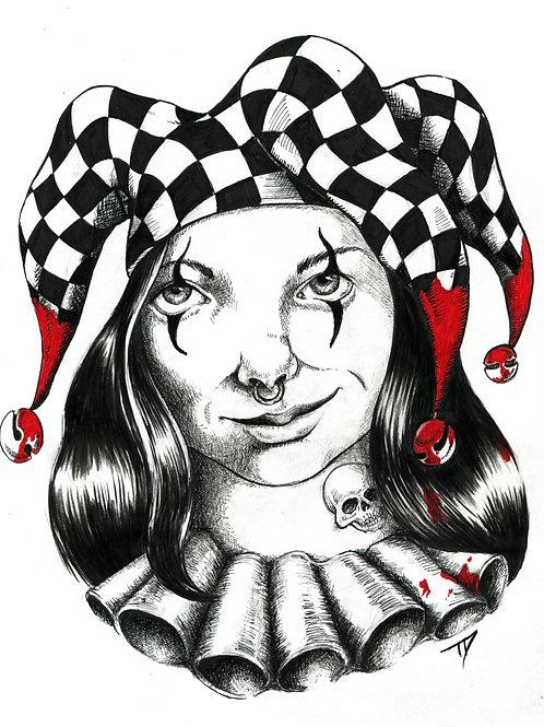 Clown Girl Print