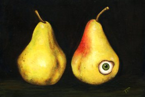 Two Pears and a Friend Print
