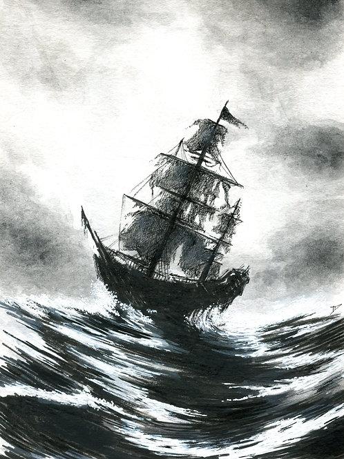 Pirate Ship Print
