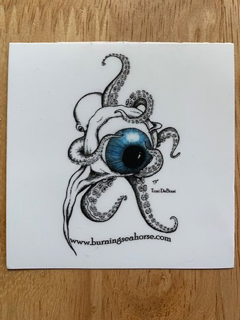 Octo with Eye Toy Sticker  (3)