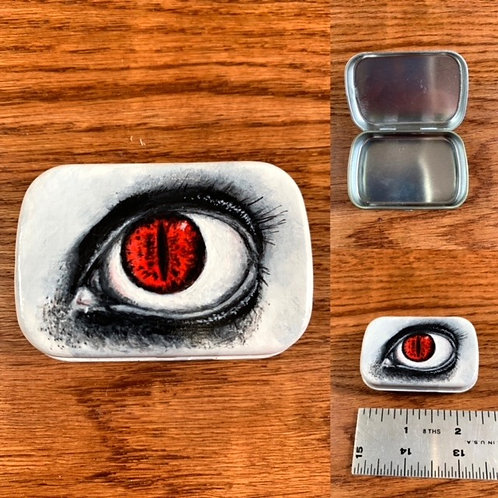 Hand painted Demon Eye Tin