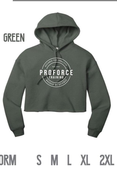 GREEN Crop Hoodie