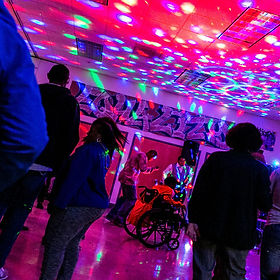 CLUB1111 dance floor with lights