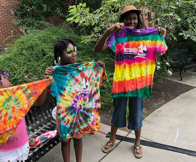RCM&D Tie Die Shirts from Art Day at The