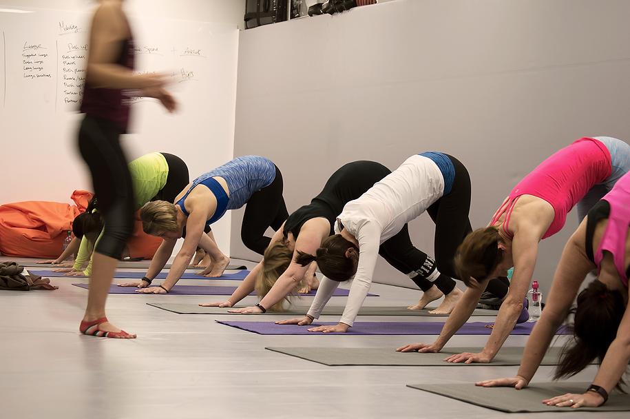 corporate yoga in birmingham wellbeing event yoga pose tutorial nam lowen namas yoga begin