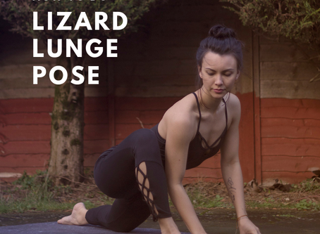 how to do Lizard Lunge Pose in 60 seconds