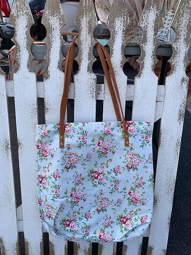 Canvas Tota Bag -Blue Floral