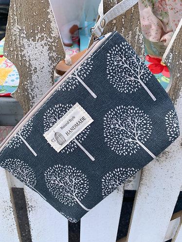 Small Canvas Hygiene/Makeup Bag - Tree Print