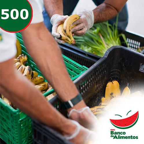 Entrega de 250 kg de alimentos para entidades sociais atendidas.