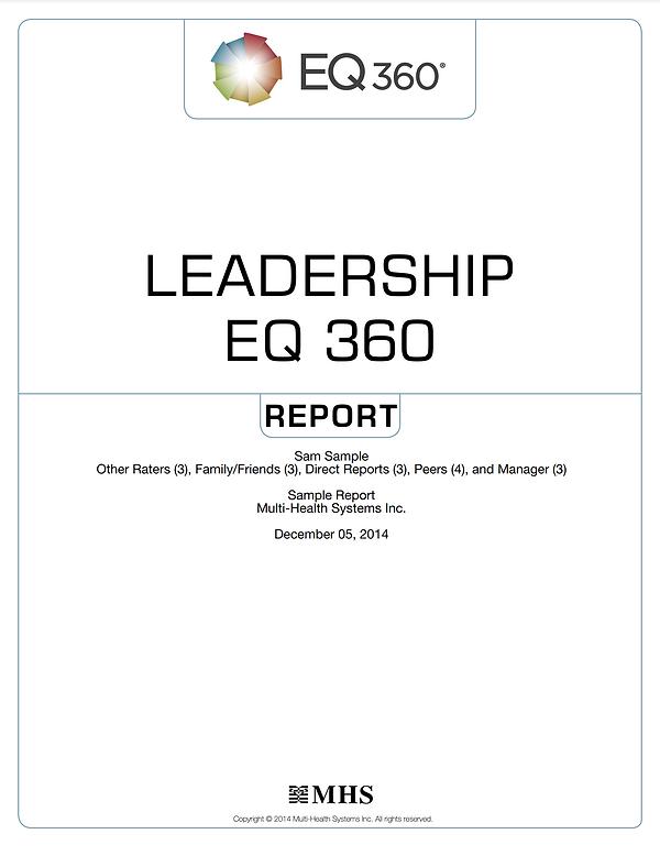 EQ360 Leadership Report Sample
