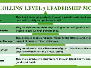 Jim Collins' Level 5 Leadership Model