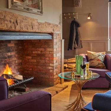 Comfy fireplace