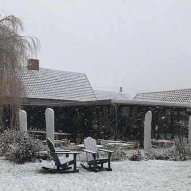 Snow at The Weeping Willow, Barrow