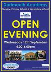 Dartmouth Academy Open Evening 12th September