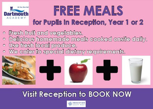 Free Homemade Meals for Pupils in Reception, Year 1 and 2