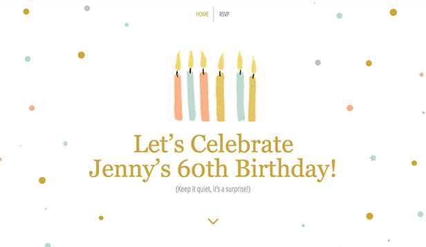Mariages et Célébrations website templates – 60th Birthday Party
