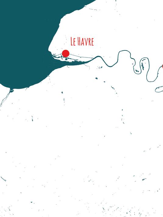 Barges & Berges, Le Havre - Paris