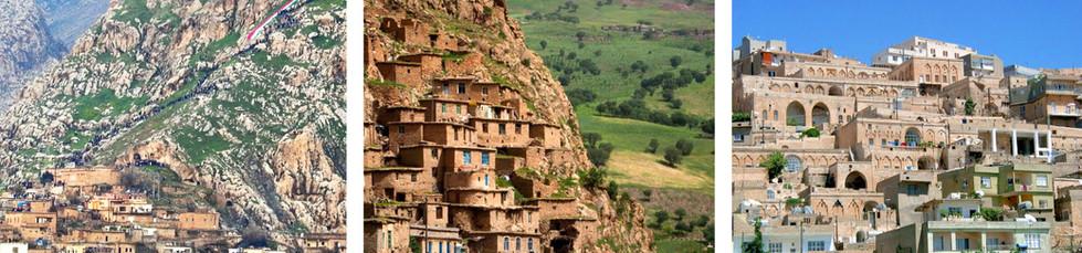 Villages kurdes  Akre, Palangam et Mardin