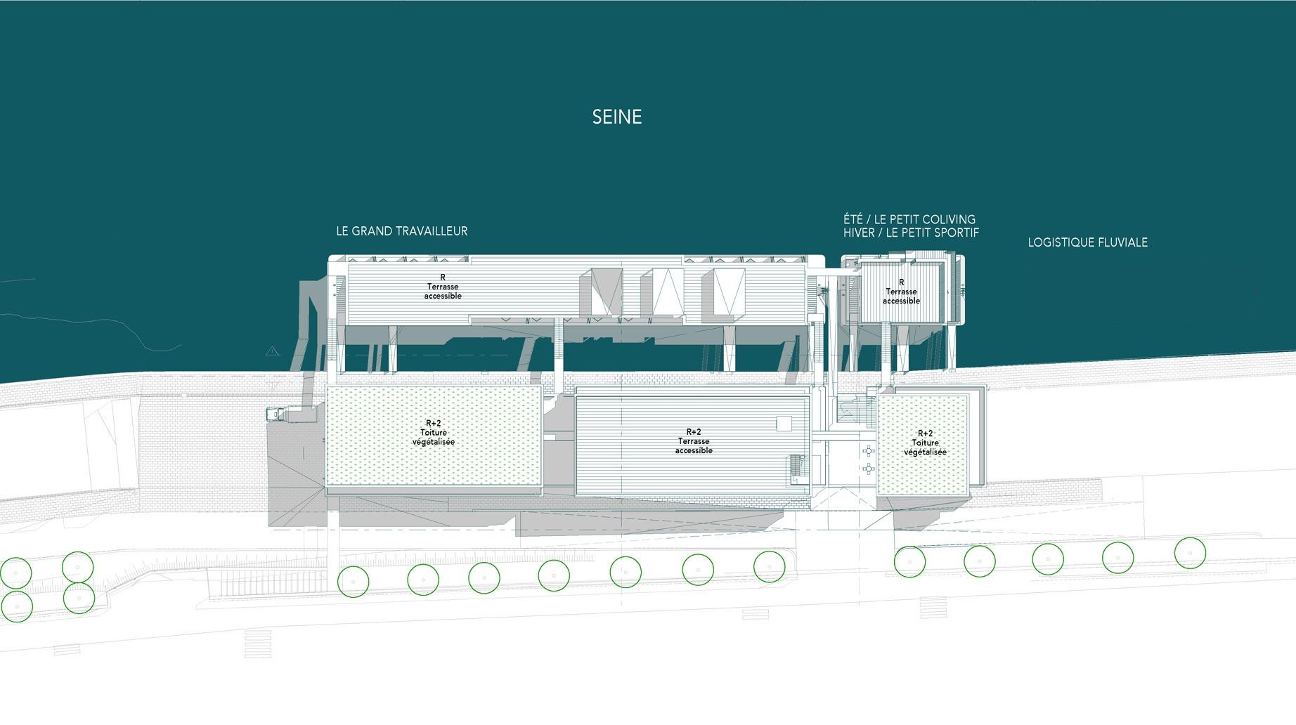 Plan masse du site de Tolbiac