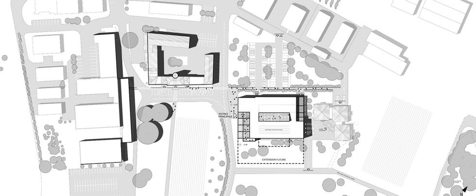 Plan mase du site INRAe avec sa nouvelle extention