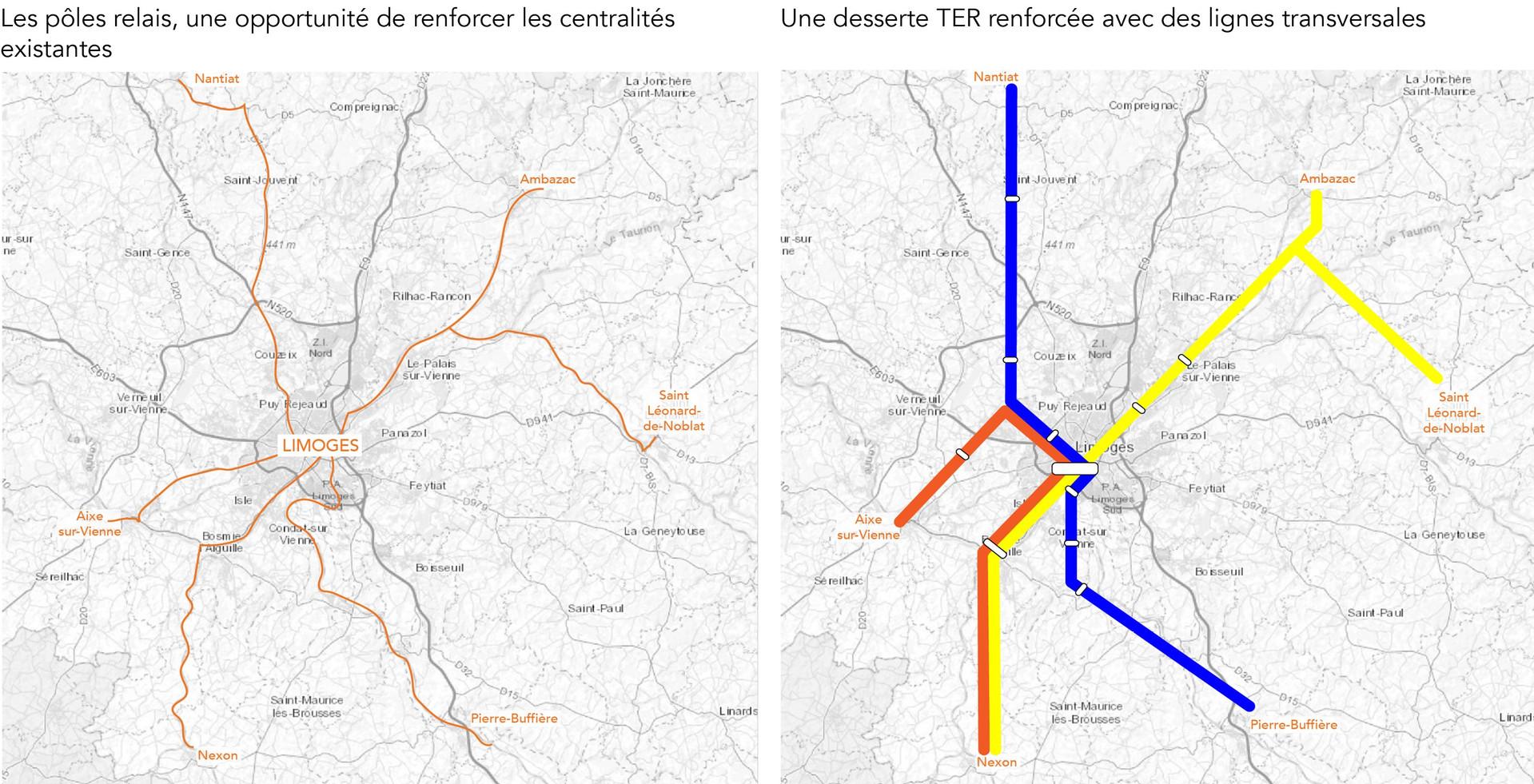 Centralités à l'échelle de l'Aire urbaine de limoges : les pôles relais