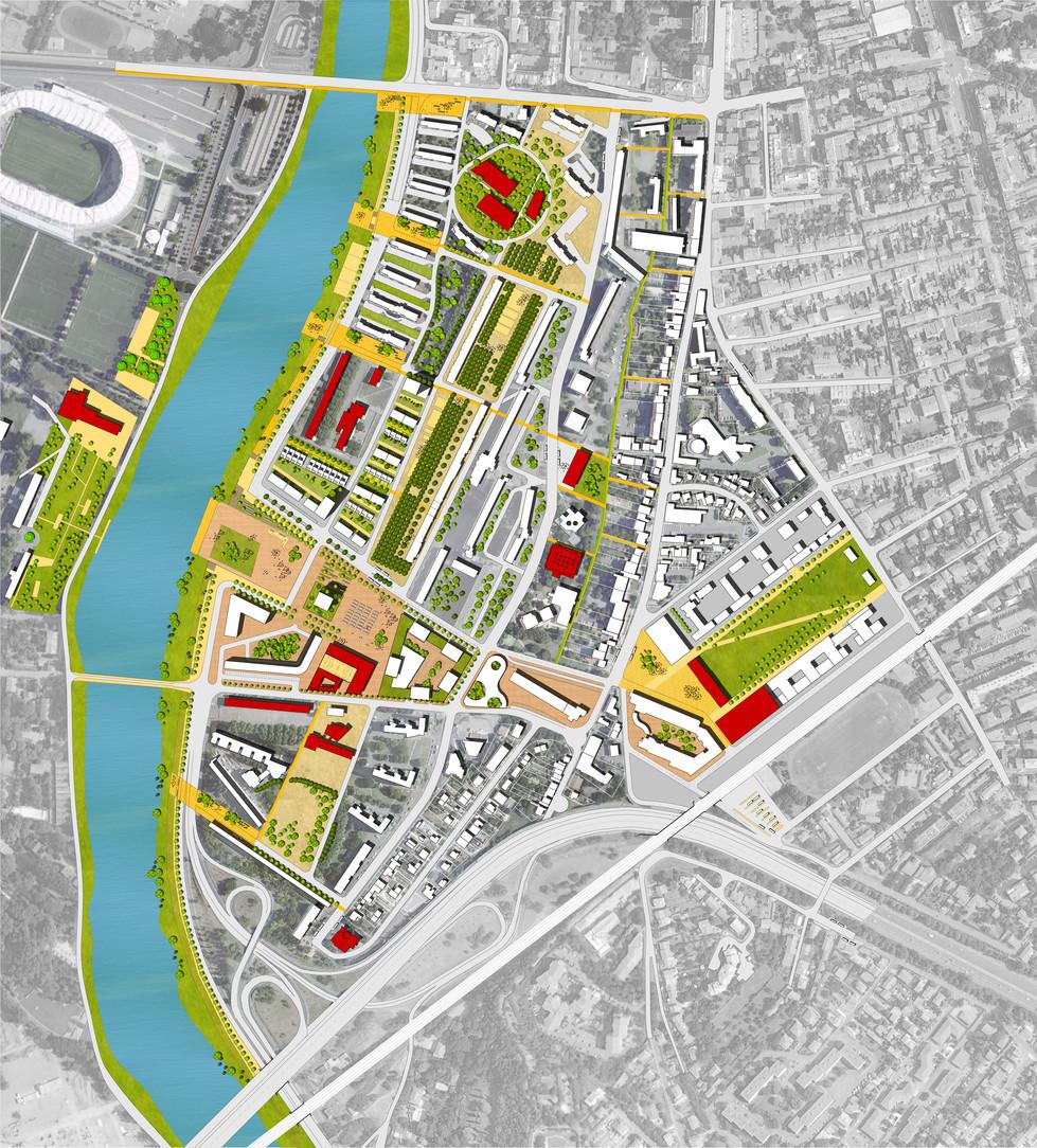 Recomposer l'habitat autour d'une trame d'ilots de logements individuels et collectifs, Prévisions de démolitions, constrution en 2013