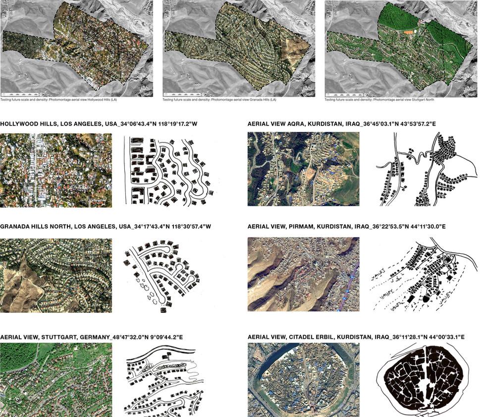 Étude d'organisation urbain de distribution et de typologie d'espace publics