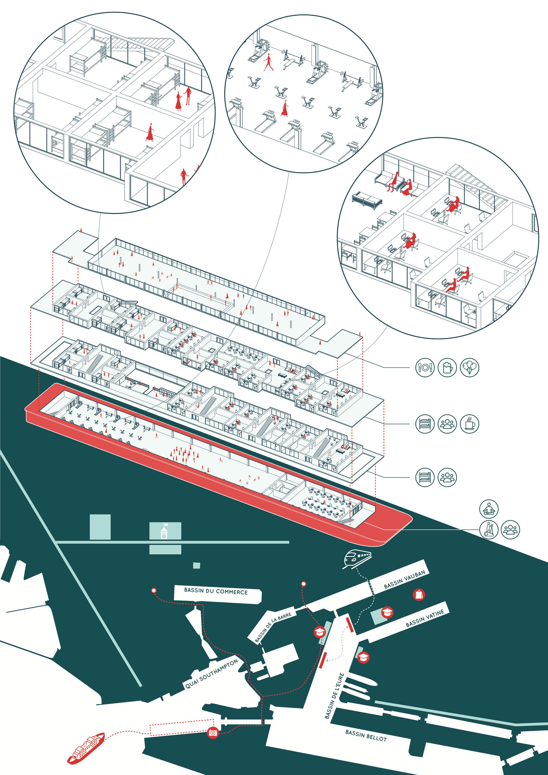 Le site du Bassin Vatine au Havre