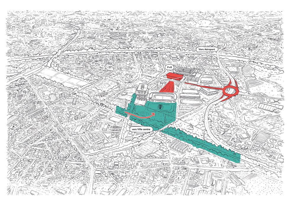 Pacification du Boulevard Périphériques, valorisation du canal Latéral et accessibilité du stade et du quartier
