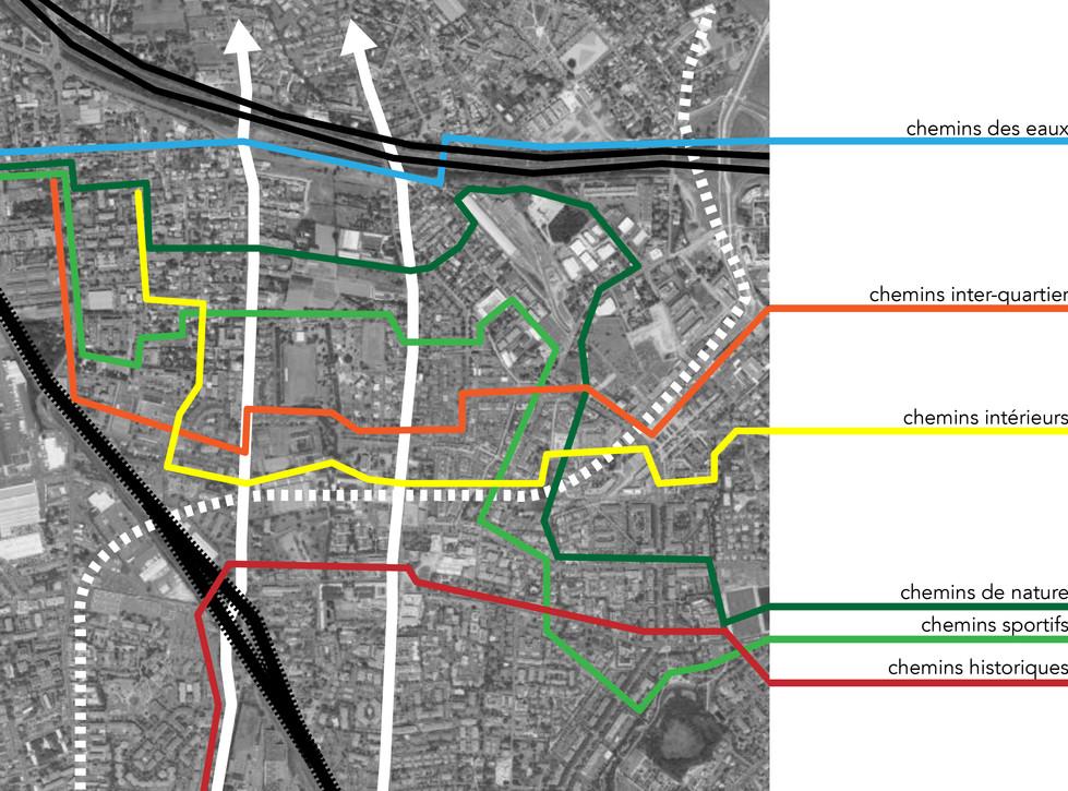 Les transversalités, connexions inter-quartiers